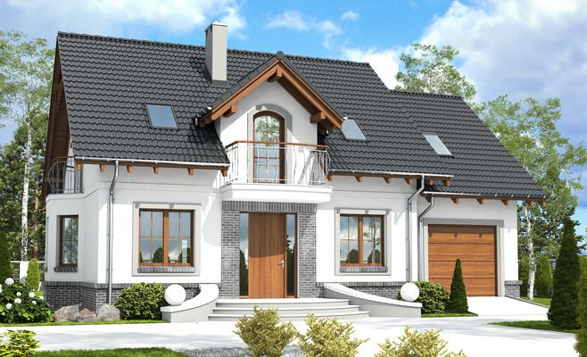 projekt Dom Dla Ciebie 5 z garażem 1-st. A